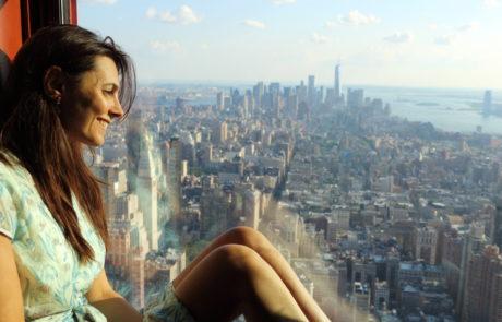 Giulia Lamarca sull'Empire State Building, New York