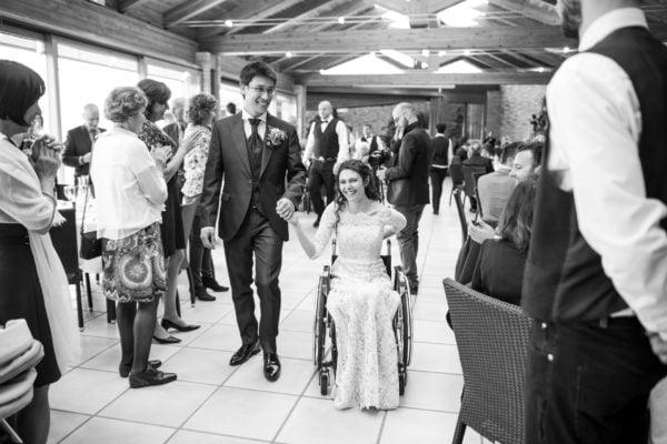 Giulia Lamarca al suo matrimonio dopo incidente